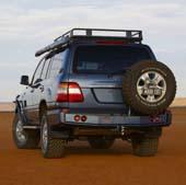 Задний бампер ARB для  Toyota Land Cruiser 105 LIVE (под калитки, черный)