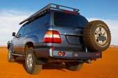 Кронштейн (калитка) крепления запасного колеса  к заднему бамперу ARB для Toyota Land Cruiser 80, левый, черный цвет