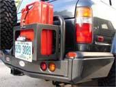 Кронштейн (калитка) крепления канистры к заднему бамперу ARB для Toyota Land Cruiser 80, левый, черный цвет
