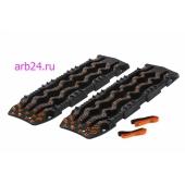 Санд-траки ARB черные с оранжевыми зацепами